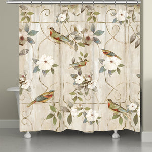 Bird Cage Shower Curtain