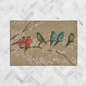 Birds and Blossoms Accent Rug