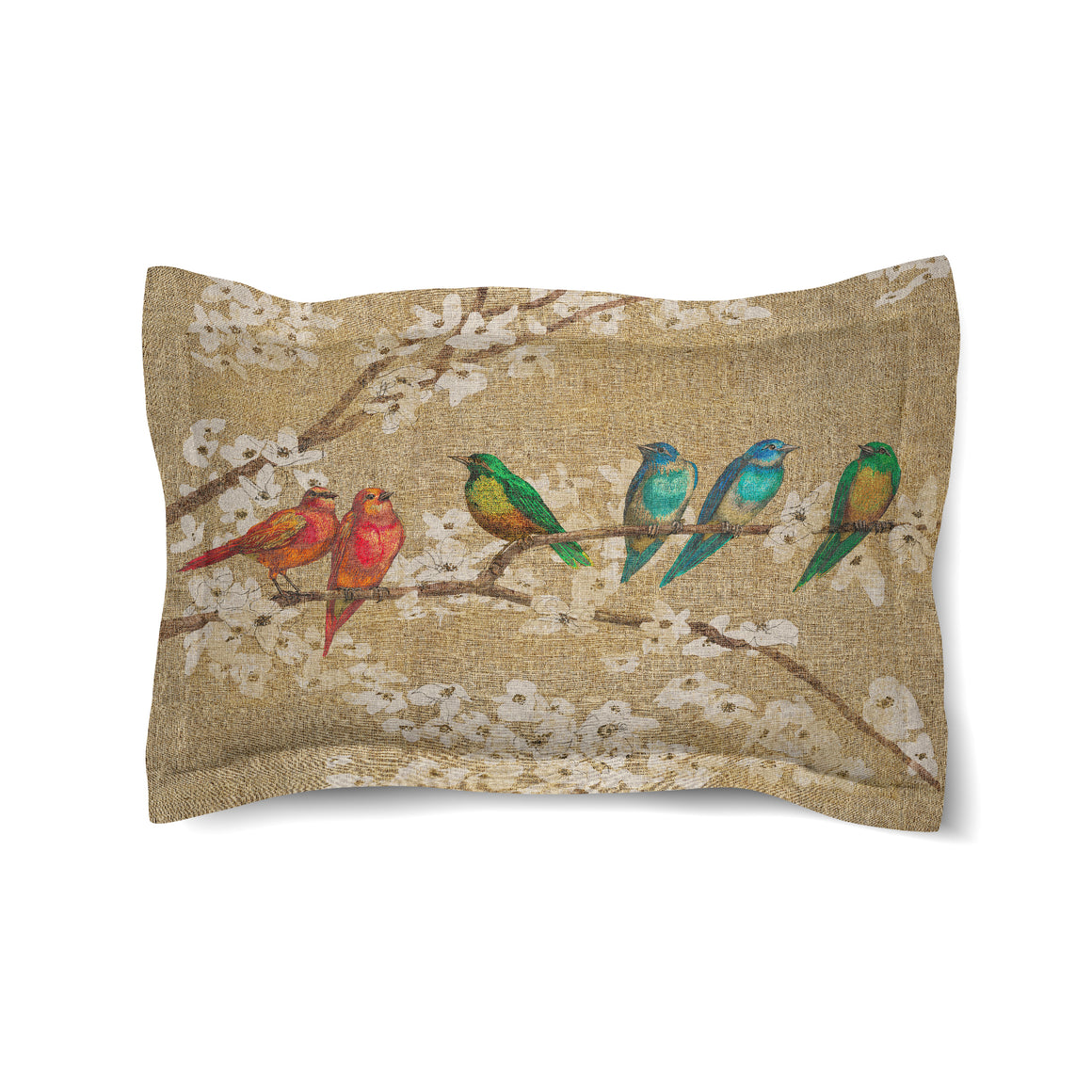 Birds and Blossoms Comforter Sham