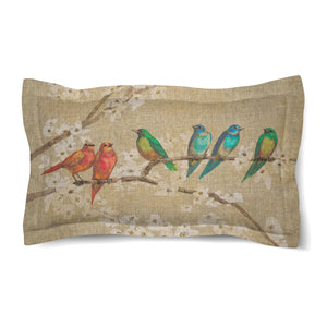 Birds and Blossoms Duvet Sham
