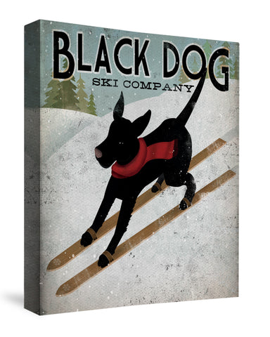 Black Dog Ski Co. Canvas Wall Art