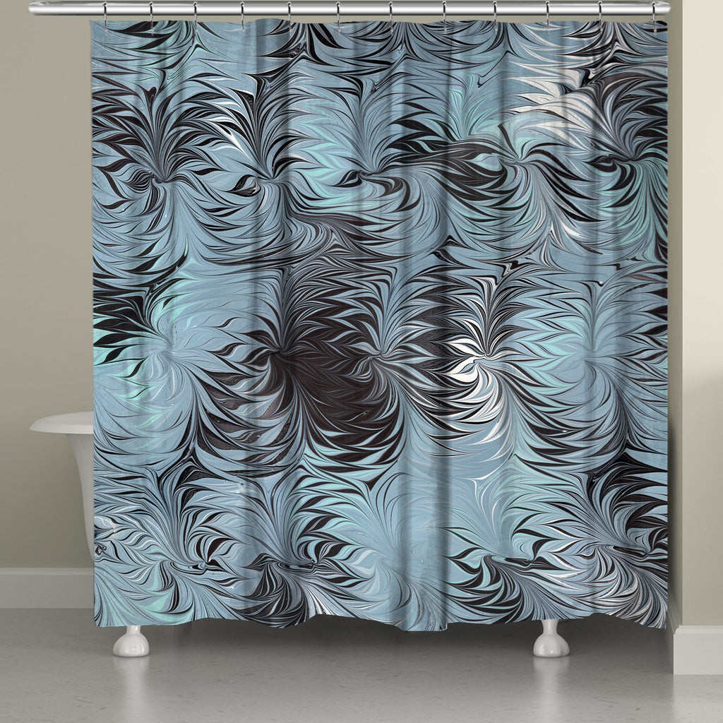 Hypnotic Blue Marble Shower Curtain Laural Home
