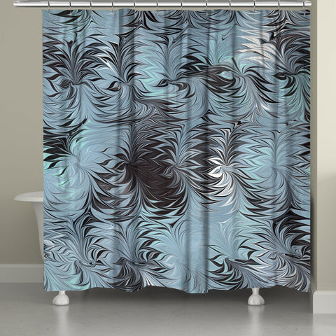Hypnotic Blue Marble Shower Curtain