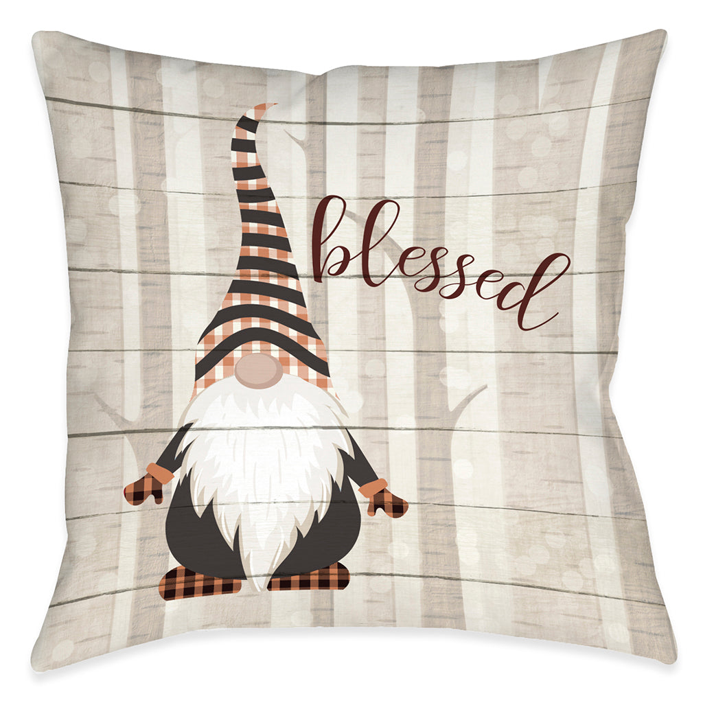 Blessed Gnome Indoor Decorative Pillow