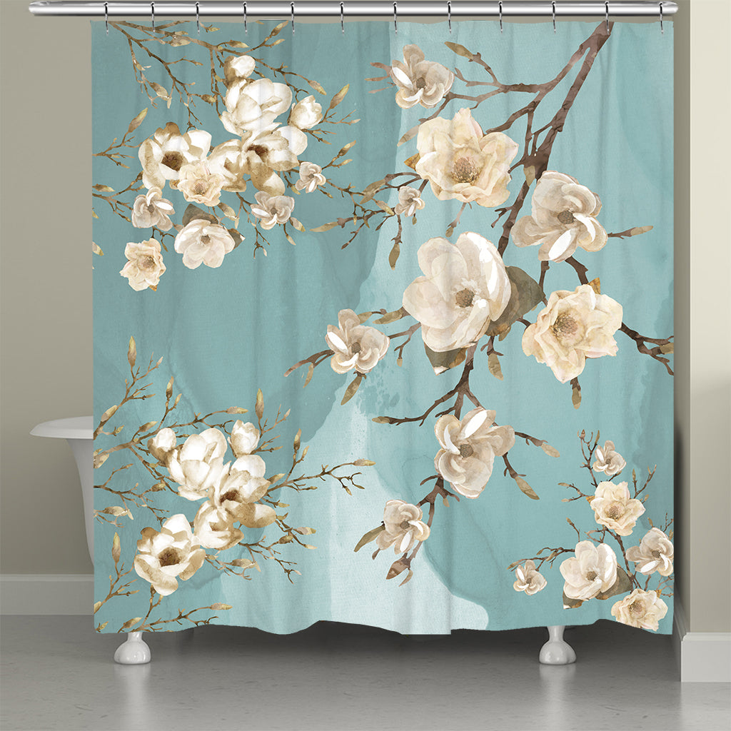 Bloom At Dusk Shower Curtain