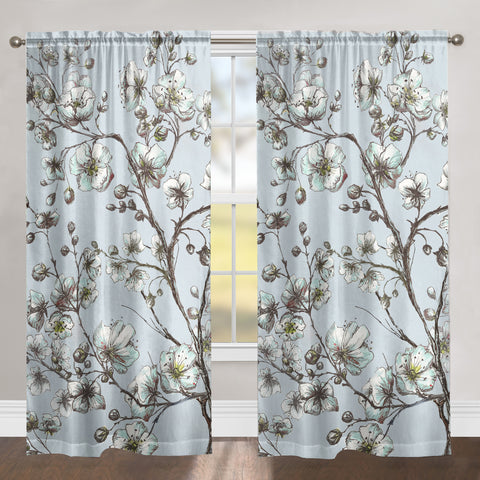 Morning Blossoms Sheer Window Panel
