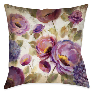 Blue and Purple Flower Song Pillow