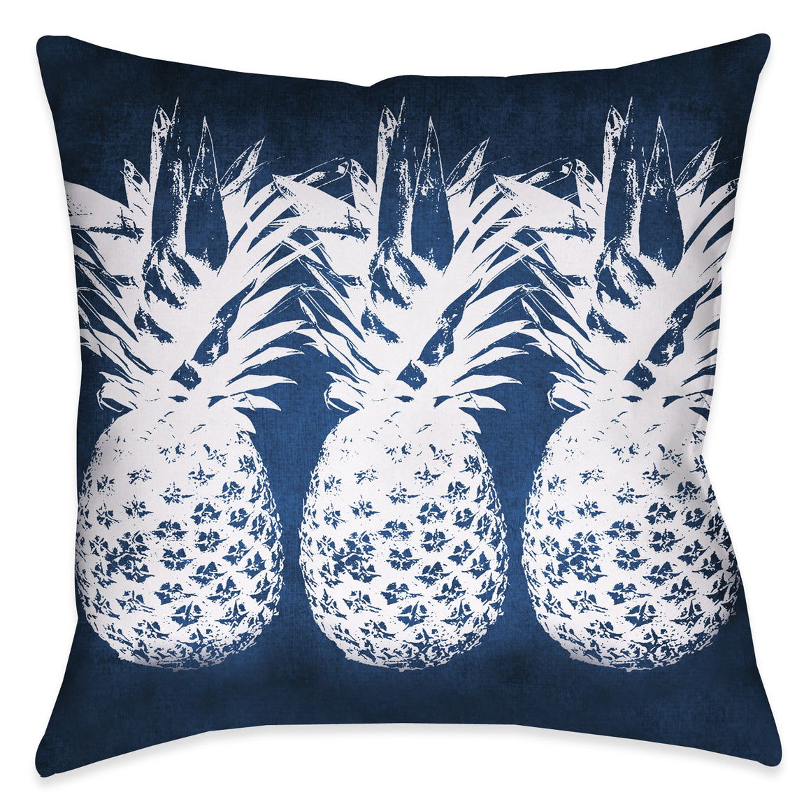 Indigo Pineapple Throw Pillow