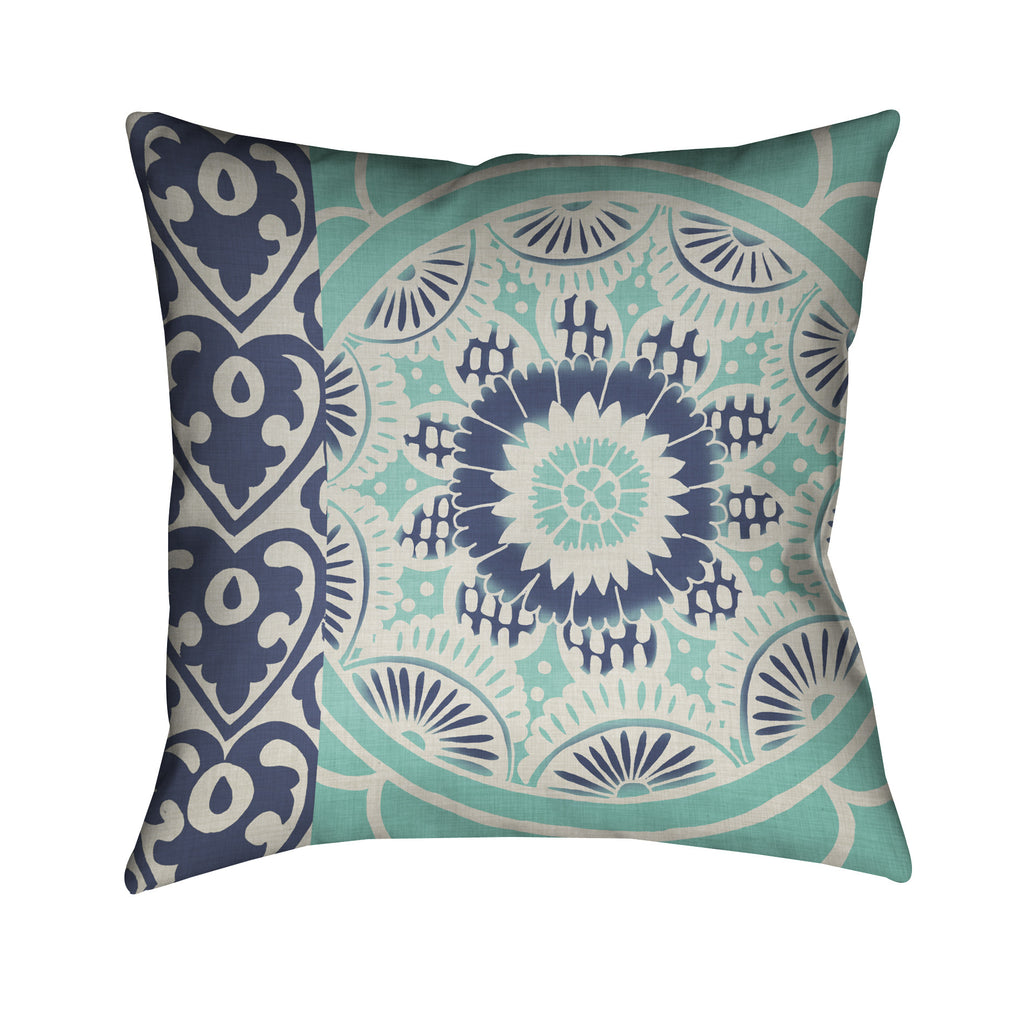 Blue Batik II Outdoor Decorative Pillow