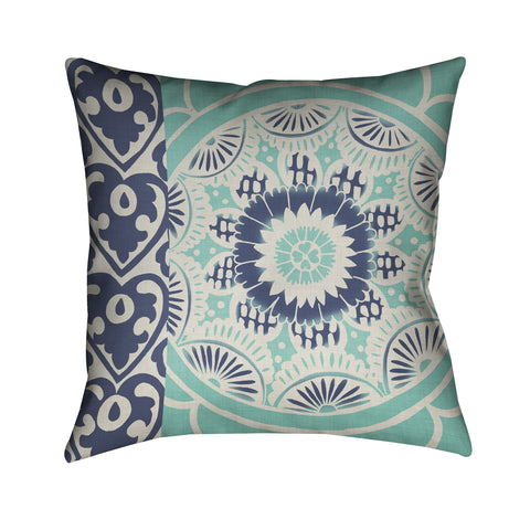 Blue Batik II Indoor Decorative Pillow