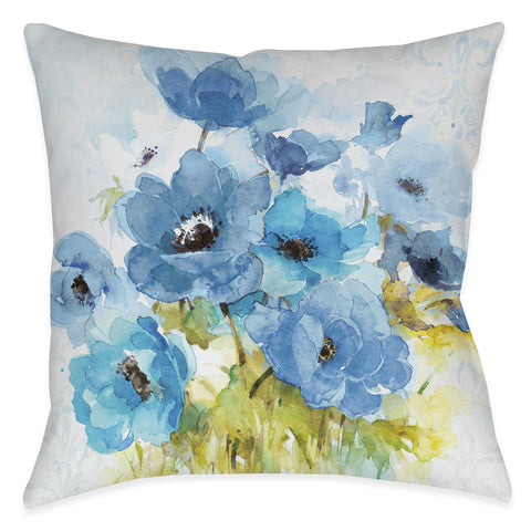 Blue Bouquet Indoor Decorative Pillow