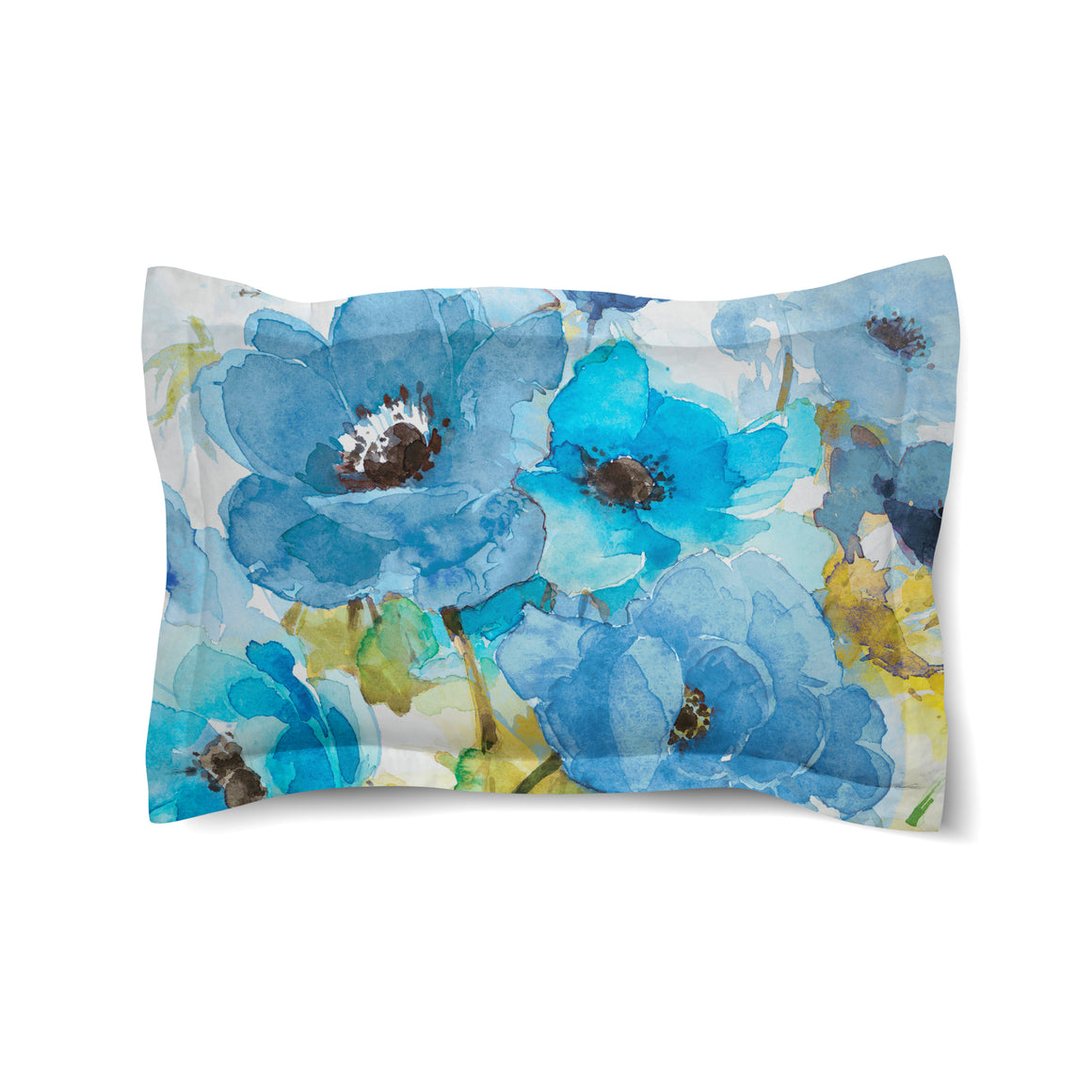 Blue Bouquet Duvet Sham