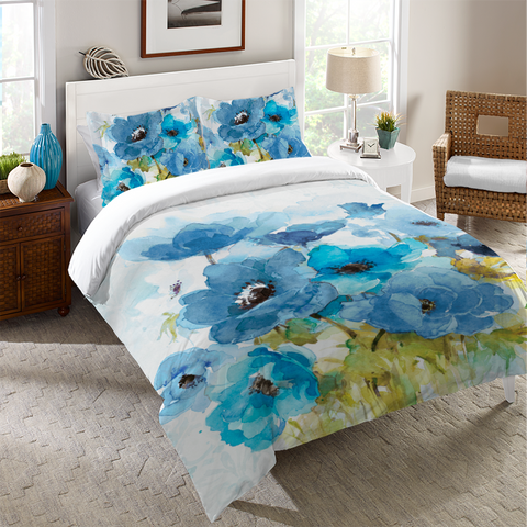Blue Bouquet Duvet Cover