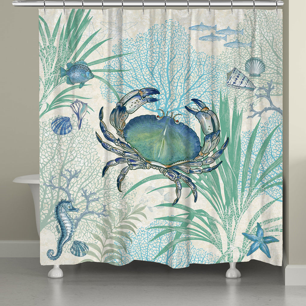 Blue Crab Shower Curtain Laural Home