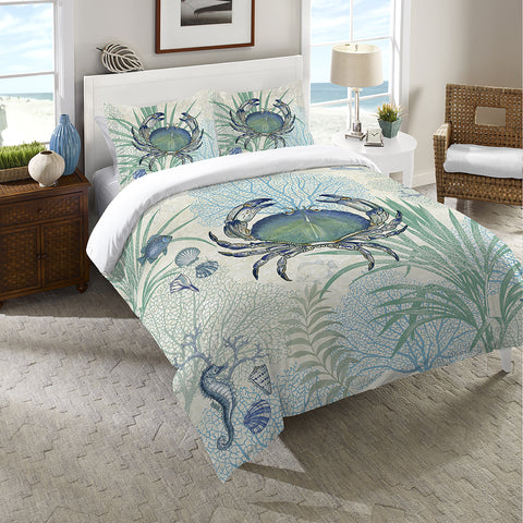 Blue Crab Duvet Cover