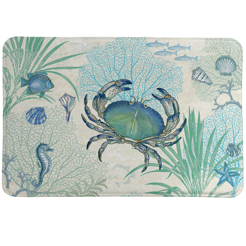 Blue Crab Memory Foam Rug