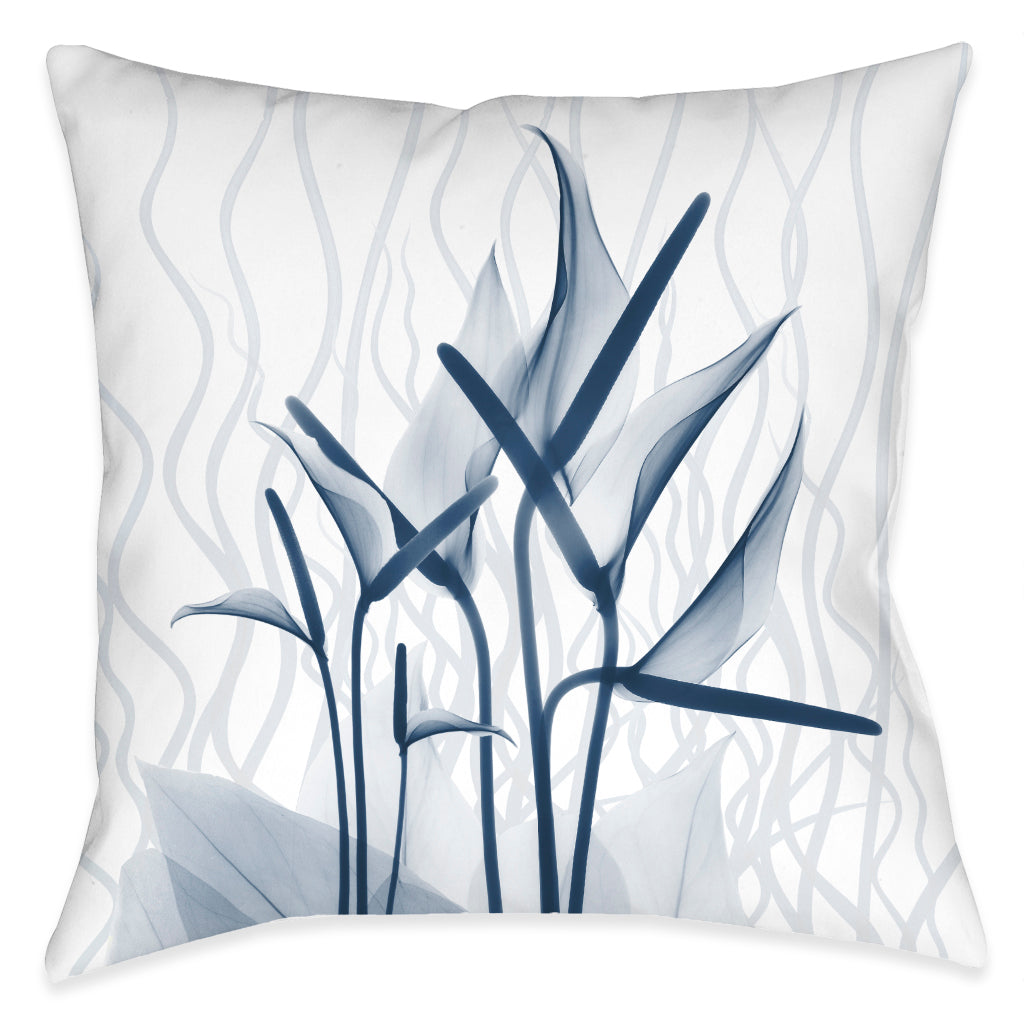 Blue Dawn X-Ray Outdoor Decorative Pillow