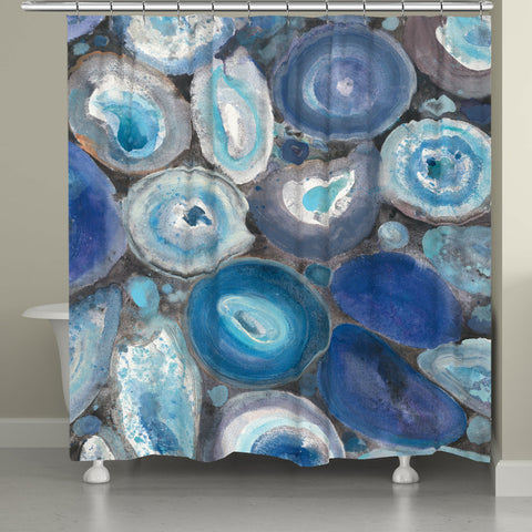 Blue Geode Shower Curtain