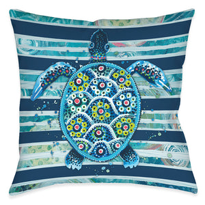 Blue Ocean Turtle Indoor Decorative Pillow