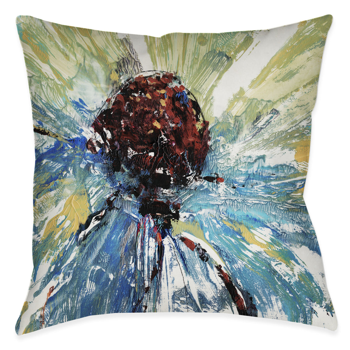 Tricolor Daisy Pillow