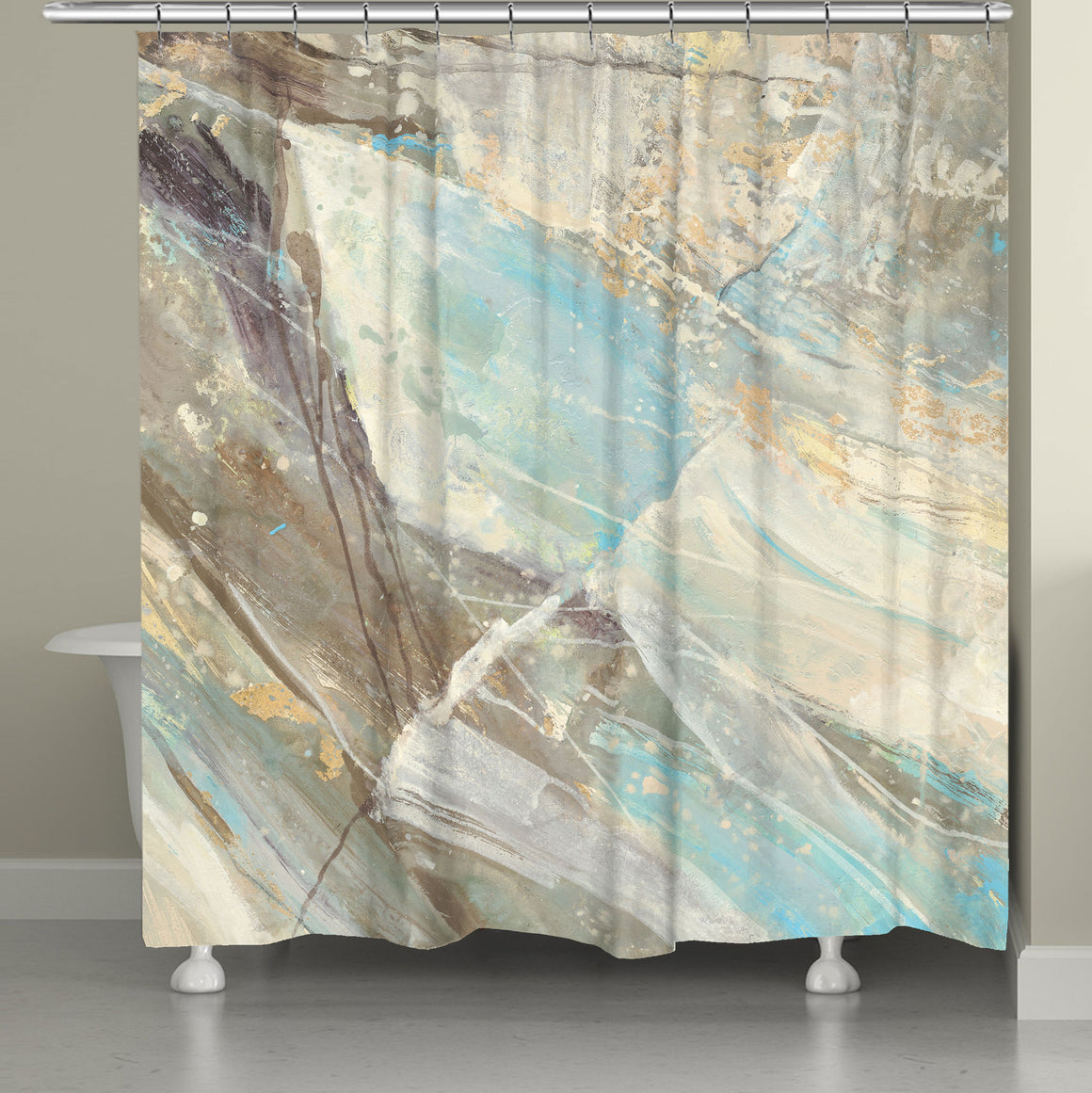 Mineral Blue Shower Curtain