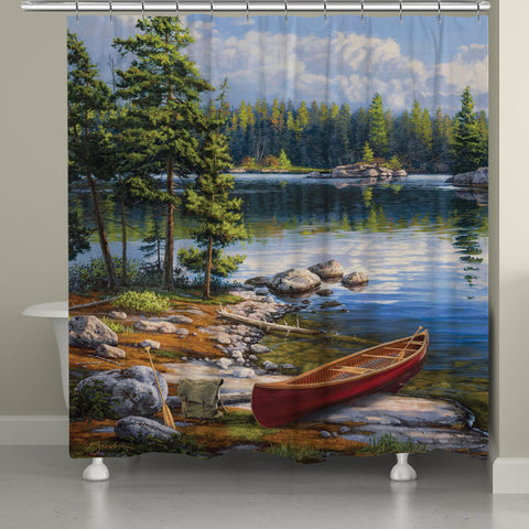 Blue Water Bay Shower Curtain