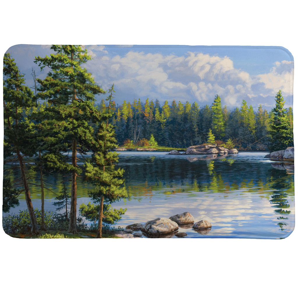 Blue Water Bay Memory Foam Rug