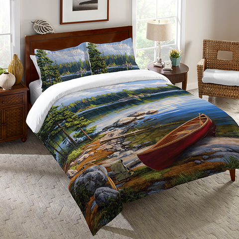 Blue Water Bay Duvet Cover