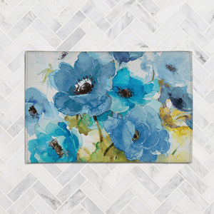 Blue Bouquet Accent Rug