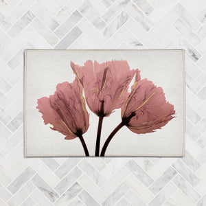 Blush Pink Tulips X-Ray Accent Rug