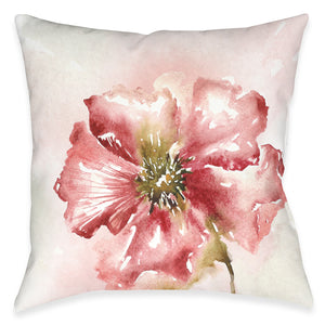 Blushing Floral Outdoor Decorative Pillow