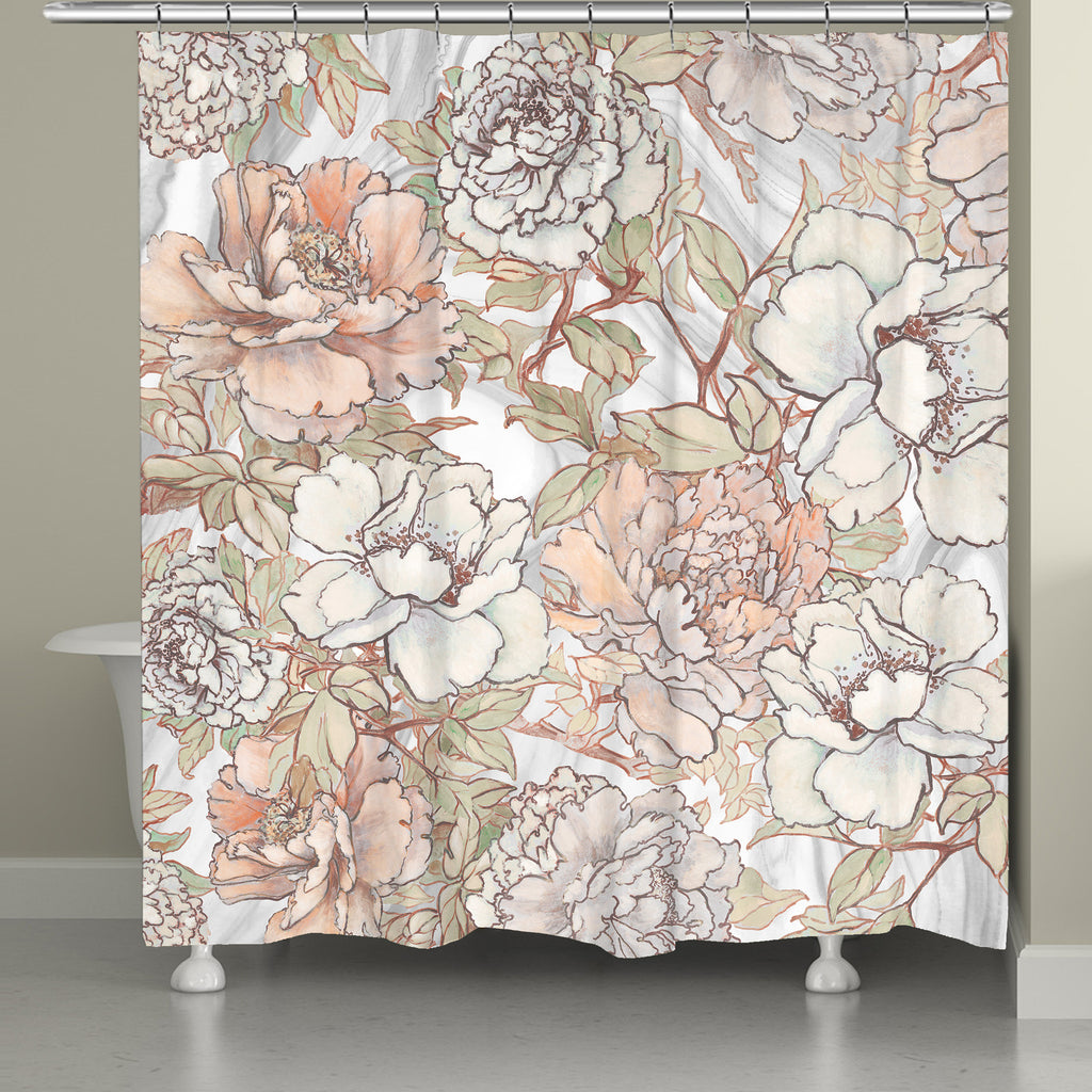 Pale Pink Shower Curtain. Blushing Pale Pink Peonies Shower Curtain  Laural Home
