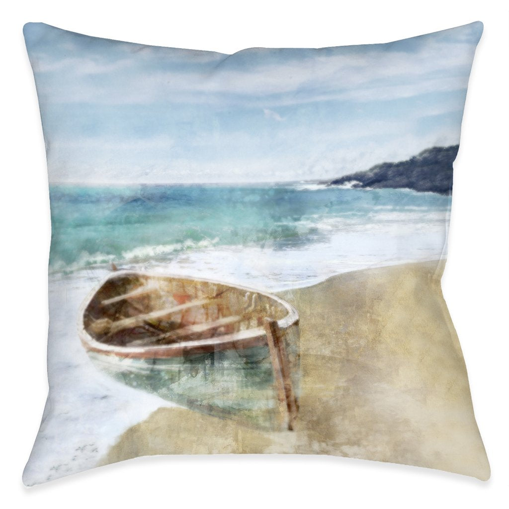 Boat Ride Outdoor Decorative Pillow