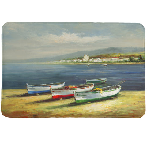 Boats on the Beach Memory Foam Rug