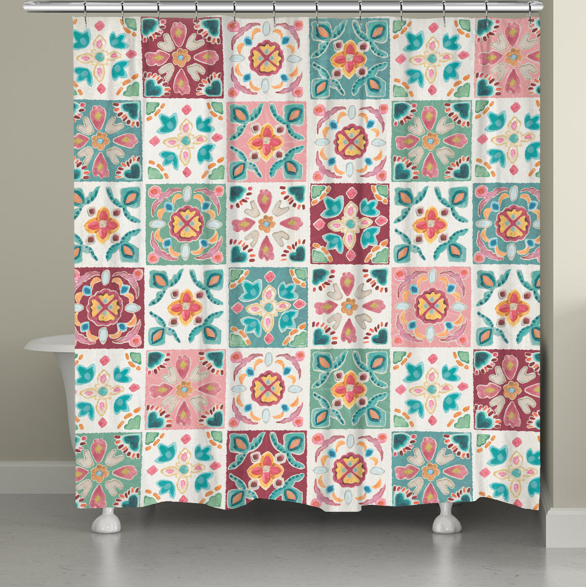Bohemian Tiles Shower Curtain