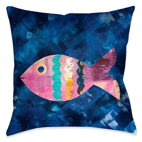 Boho Reef I Outdoor Decorative Pillow
