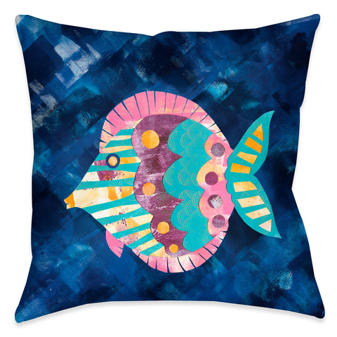 Boho Reef II Outdoor Decorative Pillow