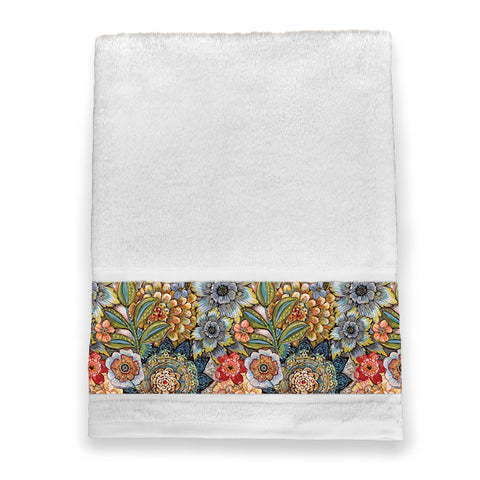 Boho Bouquet Bath Towel