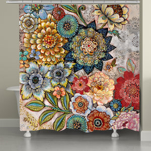 Boho Bouquet Shower Curtain