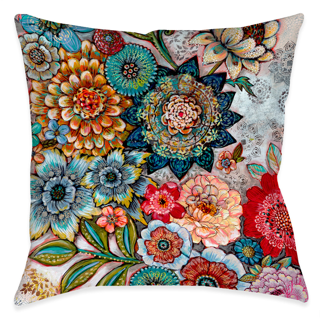 Boho Bouquet Indoor Decorative Pillow