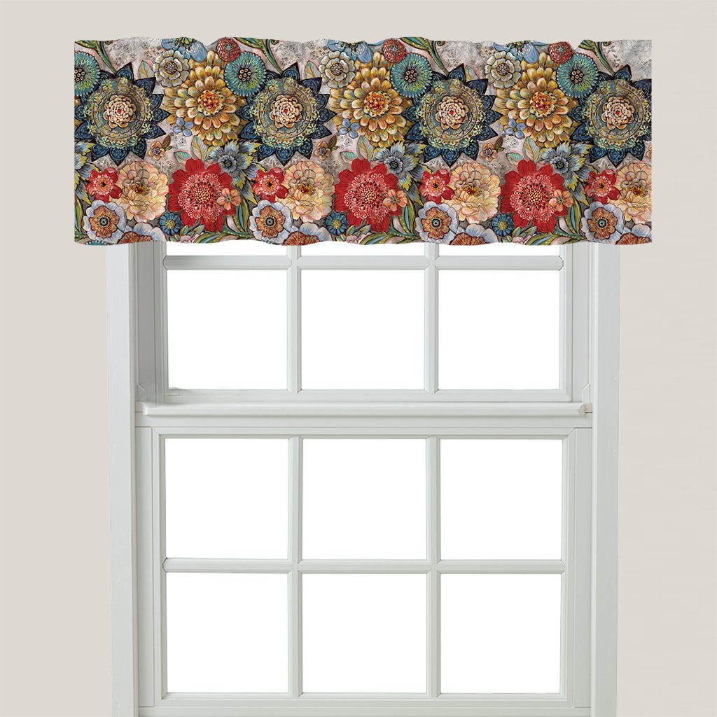 Boho Bouquet Window Valance
