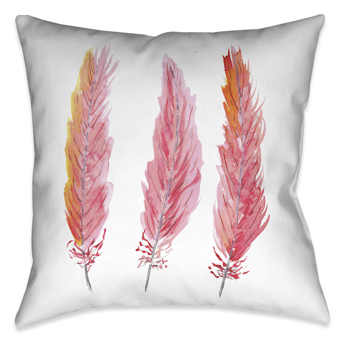 Pink Feathers Pillow