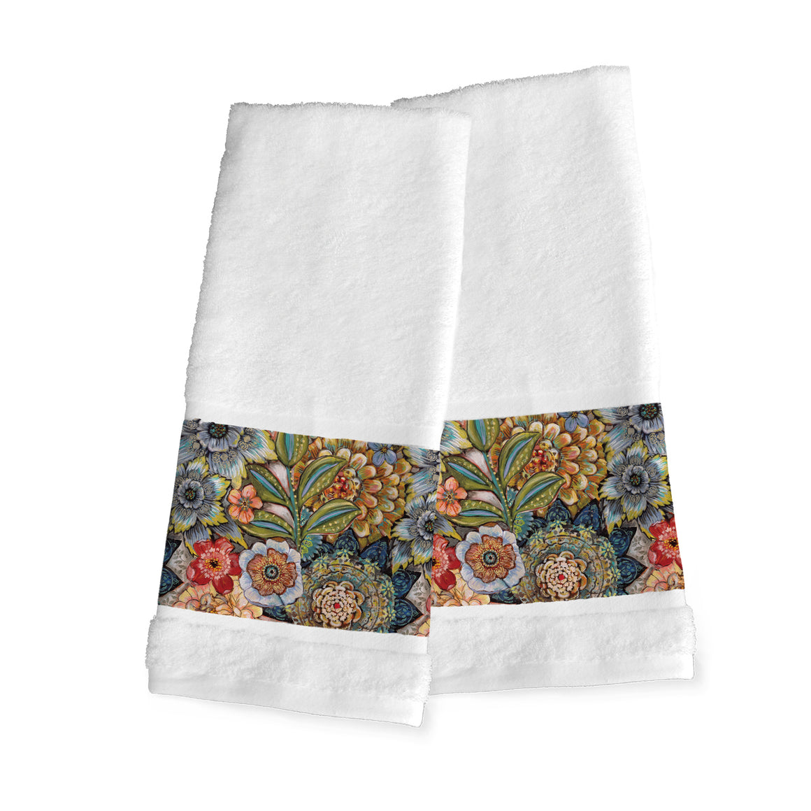 Boho Bouquet Hand Towels