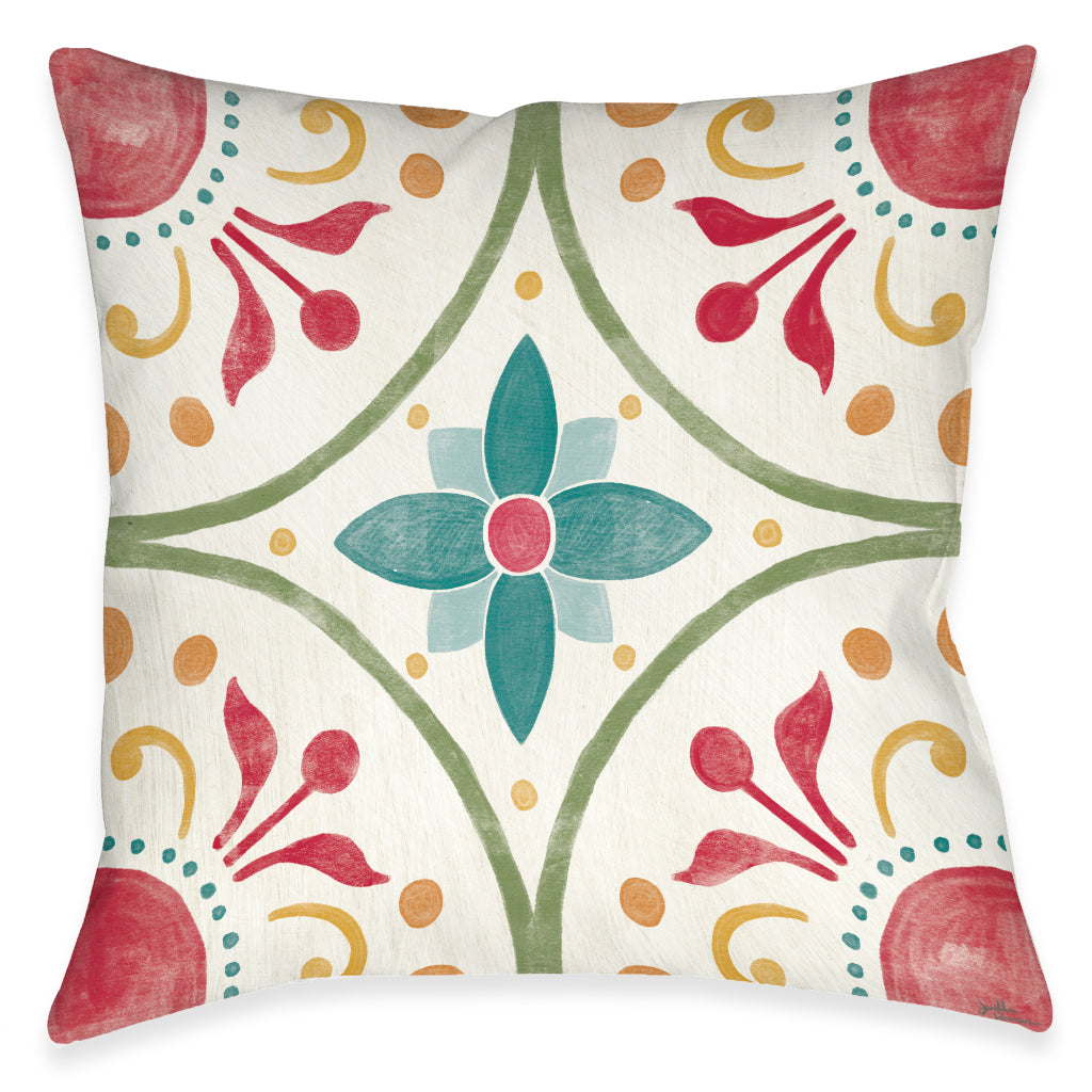 Boho Medallion Outdoor Decorative Pillow