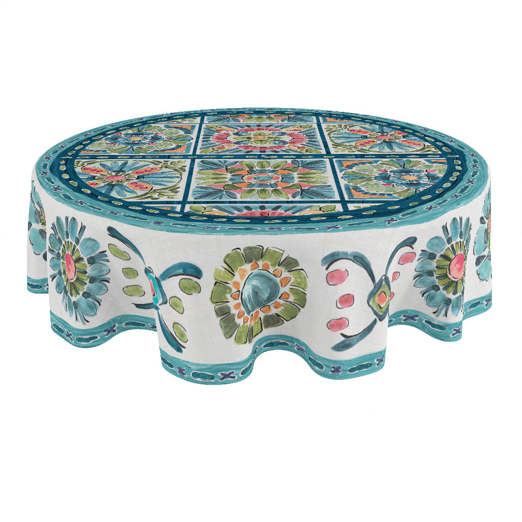 Boho Plaza Round Tablecloth