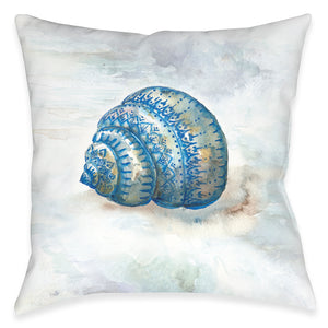 Venice Beach Shell Outdoor Decorative Pillow