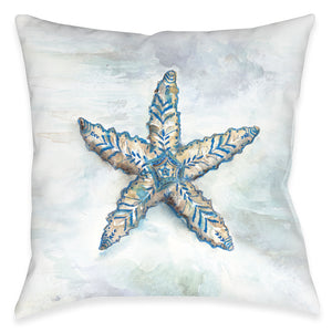 Venice Beach Starfish Indoor Decorative Pillow
