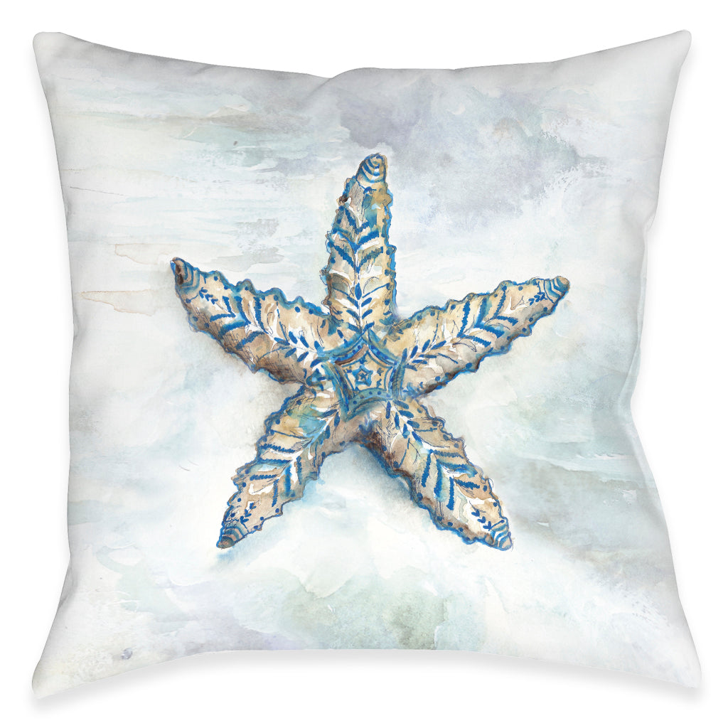 Venice Beach Starfish Outdoor Decorative Pillow