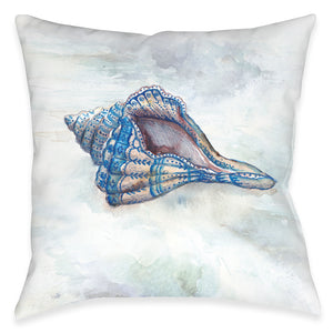 Venice Beach Conch Shell Outdoor Decorative Pillow
