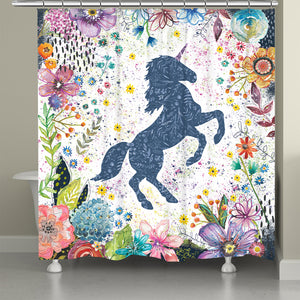 Enchanted Unicorn Shower Curtain